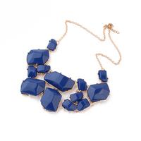 Neon Royal Blue Irregular-shape Bubble Statement Necklace statement bib fashion necklace
