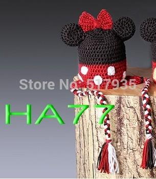 free shipping,Newborn Baby Boy Girl mickey Crochet Knit Hat Cap Photography Photo Prop