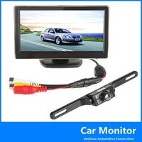 5 Inch TFT LCD Car Monitor + 420TVL  1 / 4 Inch CMOS 135 Degree View Angle Wireless Car Rear View Camera  ,free shipping!