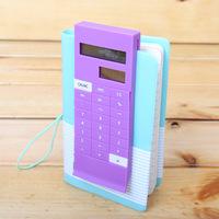 Free shipping Fashion creative bookend slim portable solar calculator Pocket Calculator