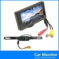 4.3 Inch  Digital Color TFT LCD  Screen Car Rear View Monitor WIith 420TVL CMOS Night Vision Car Rear View Camera ,free shipping