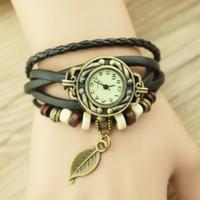 Big discount! Wholesale new women's fashion leather woven original bracelet bracelet watch women watch relogio best gift