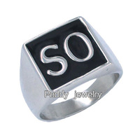 Free shipping! Stainless Steel Sons of Anarchy SO Set Ring Biker Ring SWR0001-02