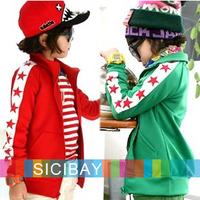 Free Shipping Kids Spring Casual Coats New Children Stars Zipper Up Jackets Boy Girls Sports Wear  K2099