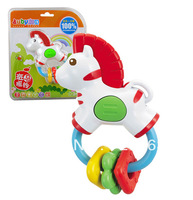 Lovely Zebra Teether Rattles Hand Bell Baby Toys 0-1 Years