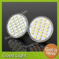 4 X NEW MR11 Pure White/Warm White 3528 LED 24 SMD SpotLight Lamp Bulb AC 12V