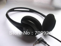 3.5mm low cost headsets wholesaler/disposable headphones with foam cushions/Min order:1000pcs