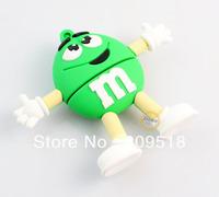 Cute Green Chocolate Rubber USB Flash Drive 1GB 2GB 4GB 8GB 16GB 32GB Memory Thumb Stick Pendrive