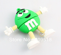 Cute Green Chocolate Rubber USB Flash Drive 1GB 2GB 4GB 8GB 16GB 32GB Memory Thumb Stick Pendrive