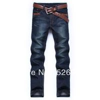 Top quality!2013 New arrival Men's jeans designer brand fashion casual pants dark blue cotton denim man's trousers X8812