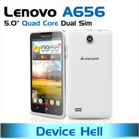 "in stock free shipping 5.0"" original lenovo a656 phone dual sim cards quad core android 4.2 wifi bluetooth gps navigation"