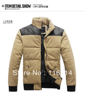 free shipping/ 2013 New fashion men's down coat/big size /the winter jacket /parka men/men's down jacket/winter coat/ M-XXXL-
