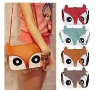 Wholesale Womens Retro Tote Owl Fox PU Purses Satchel Baguette Handbag Shoulder Bag
