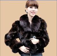 2013 100% nature fox fur coat fox fur cape fur women's  Free shipping  size ; M L XL XXL