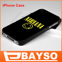 4 Designer Nirvana Mobile Phone Plastic Cases for iPhone 5 4 4s With Hard Back Cover +Free Shipping!!