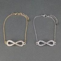 hot sale! fashion  imitation diamond lucky number 8 eight  lady's Bracelet bangle.Free shipping! wholesale!