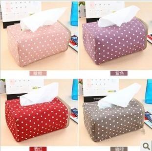 2290 Polka Dot Tissue Box European creative Tissue Fabric pumping tray free shipping