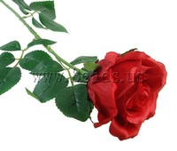 Free shipping!!!Artificial Flower Home Decoration,Men Jewelry, Cloth, with Plastic & Iron, red, 760x100mm, 25Strands/Lot