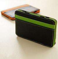2014 New Brand Casual Credit Card Holders For Men/Designer Fashion PU Leather  Men Credit Card Holders/Mini Men Bags