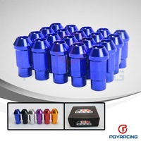 Forged 7075 Aluminum Lug Nuts  M12*1.25 or 1.5, L=50mm  B*ox LIGHT WEIGHT WHEEL NUTS RACING LUG NUTS  (20pcs/set)