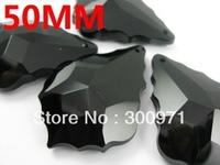 Wholesale price,Free shipping AAA  50mm(168pcs/lot)  jet blackcrystal chandelier pendant/black crystal curtain pendants