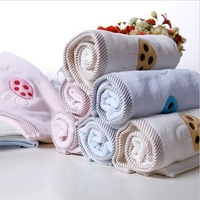 embroidered face towels cotton hair hand towel turban head wrapshand cloth pink camel blue 2 pcs /lot 34*75cm