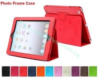 Folding Stand Folio Leather  Cover Case for iPad 2 3 4, 9.7 inch Tablet Protective Cover