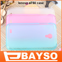 2013 New special professional transparent silicone rubber TPU protective case Cover for lenovo S750 Mobile phone+Free Shipping