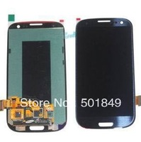 blue original lcd assembly with digiziter for samsung glaxy s3  i9300 screen