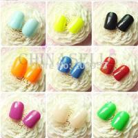24pcs/set beauty nail accessories optional acrylic nail art false fake nail tips nail stickers without glue 17colors choosing