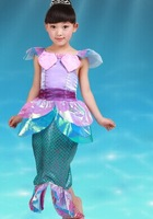 Free ship  Ariel mermaid princess costume ballet princess dress fairy tale dress party/festival halloween