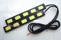 30w high power 5led DRL, ultra-thin and ultralight, cold white or ice blue color light, E4 waterproof, free shipping