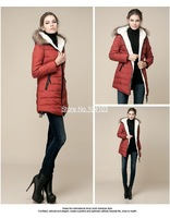 New Fashion women down jacket slim fit white duck down winter outdoor coat women warm hooded parka Plus size 5 colors