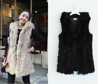 New Thick Temperament Imitate Rabbit Fur Casual Comfortable Recommend Large New Winter Cape Tops All-Match 2014 Women Vest
