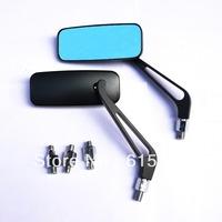 1 PAIR Motorcycle Mirror moto bike Rearview Mirror Rear-View Mirrors Alloy Motorcycle Rear View Mirrors 8mm/10mm Blue