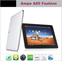"Ampe A85 Fashion version 8"" Android 4.0 Tablet PC Allwinner A13 1.5GHz ,512MB/8GB Dual Camera"