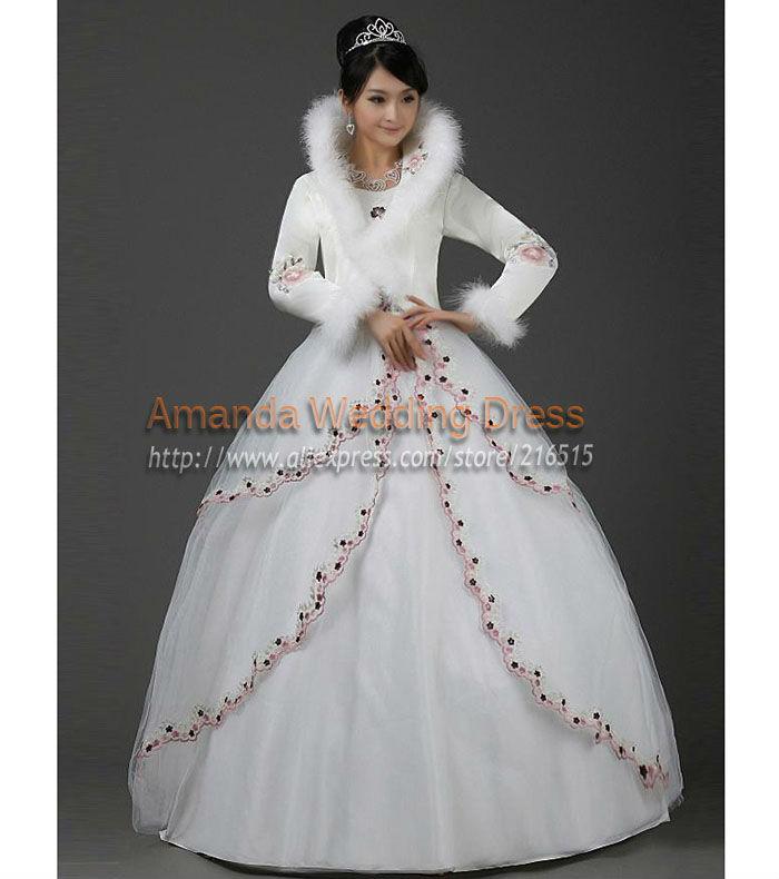 Winter Wedding Dresses With Fur Trim - Amore Wedding Dresses