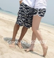 Free shipping new design 2013 lovers beach pants buckle beach pants print women's single-shorts shorts 4b 4