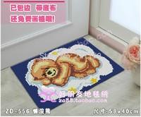 DIY cartoon mat Carpet yarn cross stitch full embroidery hook needle stitch doormat mats bath mat sead pad 58*40cm 2pc free ship