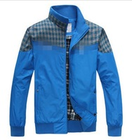 [Big Man]Free shipping Super cheap 2013 new autumn men's sports casual jacket / Size XL-XXXXL/Color Black Blue Green