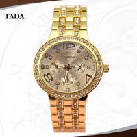 freeshipping 30pcs/lot new style quartz diamond watch Geneva brand alloy band with diamond and case,luxury ladies gift watch