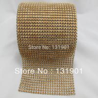 (FL101)5 Yards Brow Color Sparkle Rhinestone Crystal Diamond Mesh Wrap Roll Ribbon