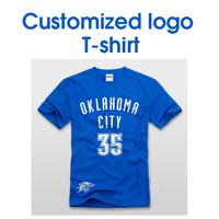 TS01   high quality  MAN WOMAN cotton customized  printing  advertisement T shirt short /long for couple shirt team football