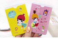 2 places card case card holder bus card holder High Quality PVC ID holder 10pcs/lot
