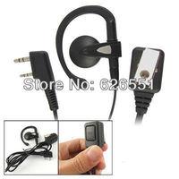 Two way radio thumb PTT earpiece for Kenwood Baofeng UV-5R PX777 Quansheng Woxun earphone headset security communication earkits