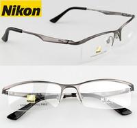 Titanium glasses av9880 frame titanium eyeglasses frame eye box male glasses myopia frame plain eyeglasses radiation-resistant