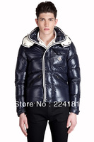 2013 Free Shipping hot sale winter lovers down coat Jacket male glossy short design down coat slim thickening coat