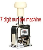 Office Number Stamp Machine 7 numbers