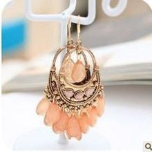 Min.order is $15 (mix order) Free Shipping Wholesale Korean Fashion Jewelry National Style Bohemian Bead Drop Earrings XY-E369