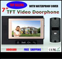 "2013 NEW  7""TFT screen video door phone  +FREE SHIPPING"